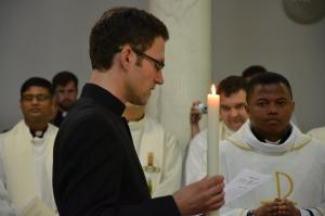 Bro. Karel(Czech Republic) professes the Vows for life before Fr. General. (2016)